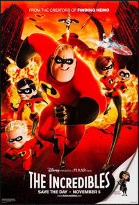 """The Incredibles (Buena Vista, 2004). Rolled, Very Fine+. One Sheet (27"""" X 40"""") DS Advance. Animation"""