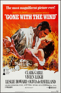 """Gone with the Wind (MGM, R-1980). Rolled, Very Fine-. One Sheet (27"""" X 41"""") Howard Terpning Artwork. Academy A..."""