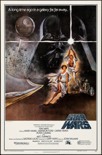 "Star Wars (Lucasfilm, R-1982). Rolled, Very Fine. Heavy Stock Video One Sheet (27"" X 41"") Style A, Tom Jung Ar..."