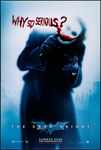 "The Dark Knight (Warner Brothers, 2008). Rolled, Very Fine/Near Mint. One Sheet (27"" X 40"") DS Advance, ""..."