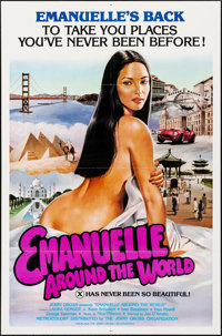 "Emanuelle Around the World (Jerry Gross, 1980). Folded, Very Fine+. One Sheets (20) Identical (27"" X 41""). Adu..."