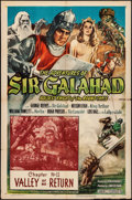 """Movie Posters:Serial, The Adventures of Sir Galahad (Columbia, 1949). Folded, Fine+. OneSheet (27""""X41"""") Chapter 11 -- """"Valley of No Return."""" Seri..."""