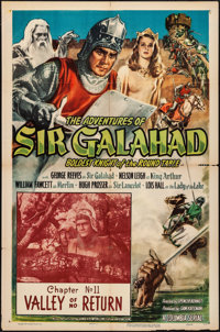 "The Adventures of Sir Galahad (Columbia, 1949). Folded, Fine+. One Sheet (27""X41"") Chapter 11 -- ""Valley..."