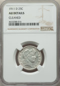 Barber Quarters: , 1911-D 25C -- Cleaned -- NGC Details. AU. NGC Census: (0/68). PCGSPopulation: (12/100). CDN: $525 Whsle. Bid for pro...