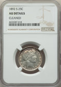 Barber Quarters: , 1892-S 25C -- Cleaned -- NGC Details. AU. NGC Census: (2/93). PCGSPopulation: (8/171). CDN: $325 Whsle. Bid for prob...