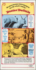 "Movie Posters:Fantasy, Doctor Dolittle (20th Century Fox, 1969). Folded, Very Fine-. Three Sheet (41 ""x 79""). Fantasy.. ..."