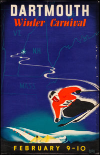 "Dartmouth Winter Carnival (Dartmouth College, 1940). Rolled, Fine+. Event Poster (22"" X 34"") John Ryland Scotf..."