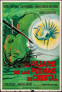 """The Bird with the Crystal Plumage (Titanus, 1972). Folded, Fine/Very Fine. Argentinean One Sheet (29"""" X 43"""")..."""