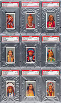 "Non-Sport Cards:Sets, 1927 Godfrey Phillips ""Red Indians"" Complete Set (25) - #9 on the PSA Set Registry. ..."