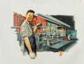 Fine Art - Painting, American, Norman Rockwell (American, 1894-1978). Tube Mill Operator,Sharon Steel Corporation advertisement, 1968. Oil on canvasl...