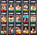 Baseball Cards:Autographs, Signed 1963 Topps Baseball Partial Set (359/576)....