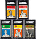 Basketball Cards:Lots, Signed 1961 Fleer Basketball Collection (24)....