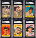 Baseball Cards:Autographs, Signed 1954-60 Bowman, Topps, & Leaf Baseball Collection (75)....