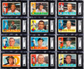 Baseball Cards:Autographs, Signed 1960 Topps Baseball Collection (223) - Includes #326 Clemente!...