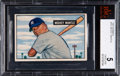 Baseball Cards:Singles (1950-1959), 1951 Bowman Mickey Mantle #253 BVG EX 5. ...