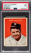 Baseball Cards:Singles (1930-1939), 1932 U.S. Caramel Babe Ruth #32 PSA Mint 9 - Pop Two, None Higher!...