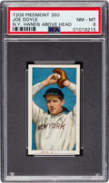 Baseball Cards:Singles (Pre-1930), 1909-11 T206 Piedmont 350 Joe Doyle (N.Y.-Hands Above Head) PSANM-MT 8 - Pop Three, None Higher. ...