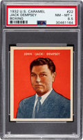 Baseball Cards:Singles (1930-1939), 1932 U.S. Caramel Jack Dempsey #22 PSA NM-MT+ 8.5 - Pop One, NoneHigher! ...