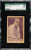Baseball Cards:Singles (1930-1939), 1933 Uncle Jacks Candy Babe Ruth SGC 50 VG/EX 4. ...