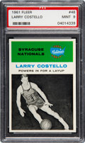 Basketball Cards:Singles (Pre-1970), 1961 Fleer Larry Costello #9 PSA Mint 9 - None Higher....