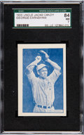 Baseball Cards:Singles (1930-1939), 1933 Uncle Jacks Candy Earnshaw SGC 84 NM 7 - Pop One, One Higher....