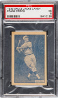 Baseball Cards:Singles (1930-1939), 1933 Uncle Jacks Candy Frank Frisch PSA EX 5 - Pop Two, NoneHigher. ...
