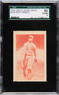 Baseball Cards:Singles (1930-1939), 1933 Uncle Jacks Candy Burleigh Grimes SGC 80 EX/NM 6 - Pop One,None Higher. ...