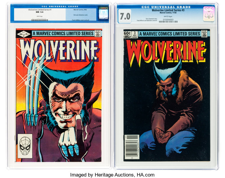 47c4439e0e3 Wolverine #1 and 3 CGC-Graded Group (Marvel, 1982).... (Total: 2 ...