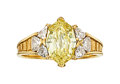 Estate Jewelry:Rings, Fancy Intense Yellow Diamond, Diamond, Gold Ring, Somenzi. ...