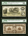 Canadian Currency, Quebec City, PQ- Union Bank of Canada $10 2.8.1886 Ch.#730-10-04p1; p2 Front and Back Uniface Proofs PMG ChoiceUncircula... (Total: 2 notes)