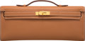 """Luxury Accessories:Bags, Hermès Gold Swift Leather Kelly Cut Clutch with Gold Hardware. OSquare, 2011. Condition: 2. 12"""" Width x 5""""Height..."""