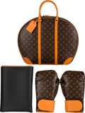 """Luxury Accessories:Home, Louis Vuitton x Karl Lagerfeld Limited Edition """"Celebrating Monogram"""" Boxing Glove Set. Condition: 1. 18"""" Width x 14"""" ..."""