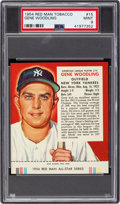 Baseball Cards:Singles (1950-1959), 1954 Red Man Gene Woodling #15A PSA Mint 9 - Pop One, None Higher....