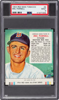Baseball Cards:Singles (1950-1959), 1954 Red Man Mel Parnell #8A PSA Mint 9 - Pop Two, None Higher....