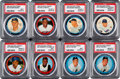 Baseball Cards:Lots, 1962 and 1963 Salada-Junket Coin Baseball Collection (166)....