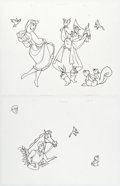 Animation Art:Production Drawing, Sleeping Beauty Storybook Illustrations Original Art Group of 3 (Walt Disney, c. 2000s... (Total: 3 Original Art)