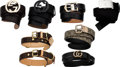 Luxury Accessories:Accessories, Set of Eight: Four Gucci Belts, One Prada Belt, One Cartie...