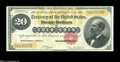 Large Size:Gold Certificates, Fr. 1178 $20 1882 Gold Certificate Gem New....
