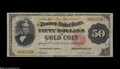 Large Size:Gold Certificates, Fr. 1197 $50 1882 Gold Certificate Fine-Very Fine....