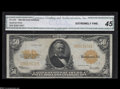 Large Size:Gold Certificates, Fr. 1200 $50 1922 Gold Certificate CGA Extremely Fine 45....