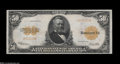 Large Size:Gold Certificates, Fr. 1200a $50 1922 Gold Certificate Choice About New....