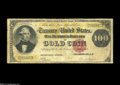 Large Size:Gold Certificates, Fr. 1206 $100 1882 Gold Certificate Very Good....