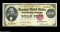 Large Size:Gold Certificates, Fr. 1212 $100 1882 Gold Certificate Very Fine....