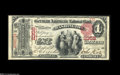 Washington, DC - $1 1875 Fr. 384 The German-American NB Ch. # 2358 An extraordinary note in all respects, and likely th...