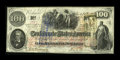 Confederate Notes:1862 Issues, T41 $100 1862 Cr. 314 PF-4.. ...