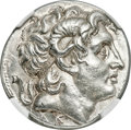 Ancients:Greek, Ancients: THRACIAN KINGDOM. Lysimachus (305-281 BC). AR tetradrachm (28mm, 16.90 gm, 12h). NGC Choice AU★ 5/5 - 4/5, Fine Style....