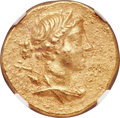 Ancients:Greek, Ancients: IONIA. Magnesia ad Maeandrum. Ca. 155-145 BC. AV stater (20mm, 8.46 gm, 12h). NGC Choice AU 5/5 - 4/5....