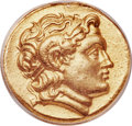 Ancients:Greek, Ancients: THRACIAN KINGDOM. Lysimachus (305-281 BC). AV stater (21mm, 12h). ANACS EF 40, mount removed....