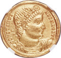 Ancients:Roman Imperial, Ancients: Constantine I the Great (AD 307/310-337). AV solidus (22mm, 4.44 gm, 11h). NGC Choice AU 5/5 - 4/5....
