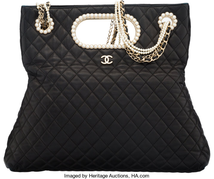 e32ebf9649a861 Luxury Accessories:Bags, Chanel Black Quilted Lambskin Leather Westminster  Pearl Co.